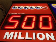 Powerball lottery jackpot to be largest in US HISTORY at.: Powerball lottery jackpot to be largest in US HISTORY at estimated… Lottery Tickets, Buy Tickets, Lotto Results, Online Lottery, Winner Announcement, Power Balls, Lottery Numbers, 50 Million, Winning Numbers