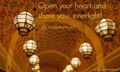 Open your heart and let your inner light shine! - De Loslaatkoningin!