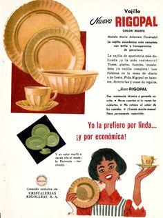 Vajilla RIGOPAL, década del 60.