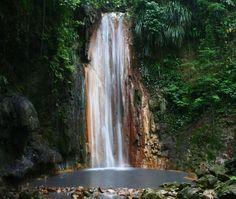 Must go here on my honeymoon! Diamond Falls in St. Lucia
