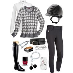 How About Houndstooth? - Polyvore get rid of the checker shirt and I am all for it.