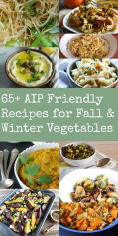 Paleo autoimmune protocol (AIP) meals should be comprised of 2/3 to 3/4 vegetables. Thankfully the vast majority of fall and winter vegetables are AIP-compliant and there is a huge variety to choose from, so you never have to get bored.