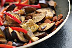 Asian Eggplant Stir Fry and a Book Review | Joanne Eats Well With Others