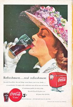 Coca Cola Machine, great old vintage ad, this is a good source for vintage illustrations, ads, and paper ephemera.