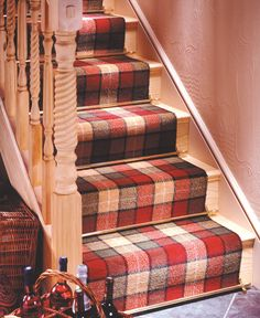 Sherwood Plain In Polished Brass Stair Rods, Stair Runners, Wall Hanger,  Under Stairs