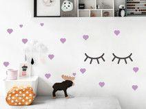 Wandsticker Kinderzimmer Herzen Wandtattoo Sticker