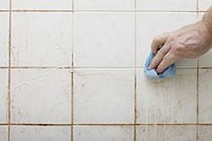 Nothing makes a bathroom or kitchen look old and dirty faster than grubby grout and tired old tiles. These also tend to harbor mold and mildew, which pose serious health risks. Here's all you need Mold In Bathroom, Bathroom Cleaning, Clean Tile Grout, Small Garden Design, Hacks Diy, Mold And Mildew, Tricks, Woodworking Plans, Tile Floor
