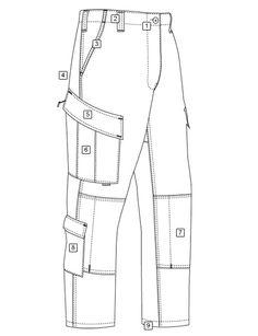 Tactical response uniform® (t. Fashion Design Portfolio, Fashion Design Drawings, Fashion Sketches, Fashion Illustrations, Tactical Pants, Tactical Clothing, Fashion Sewing, Mens Fashion, Tactical Response