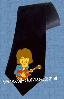 CREEDENCE CLEARWATER REVIVAL John Fogerty cartoon 1 DELUXE ART CUSTOM HANDPAINTED TIE  $25.00 + shipping   *Please see details at http://www.collectorware.com.ar/neckties-ccr_andrelated.htm