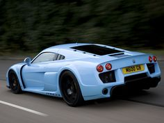 Light blue Noble M600 rear