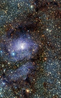A new infrared view of the star formation region Messier 8, often called the Lagoon Nebula, captured by the VISTA telescope at ESO's Paranal Observatory in Chile. Credit: ESO/VVV