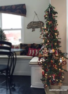 Kitchen Tree & Cozy Christmas Kitchen Tour| My Life From Home| www.mylifefromhome.com