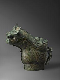 Bronze Ritual Vessel (Gong). China, Shang Dynasty, circa 1200 B.C.