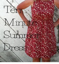 DIY Ten Minute Summer Dress Tutorial how to make a fitting short dress out of a too small long one