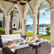 mediterranean patio by CMA Design Studio Inc