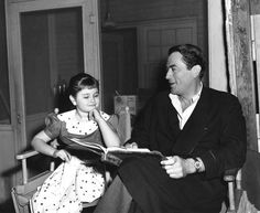 James Mason daughter Portland became a child actress and later worked in acting as an adult as well - here's Portland Mason with Greg Peck in during shooting of 'The Man In The Gray Flannel Suit' (1956). She played his daughter in this film.
