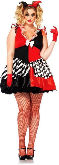 Womens Court Jester Joker Harley Quinn Harlequin Halloween Costume Plus Size #LegAvenue #CompleteCostume