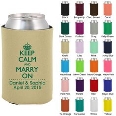 Wedding+Favor+Koozies+Clipart+1775+Keep+Calm+and+by+MyWeddingStore,+$49.00