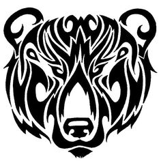 Tattoo Designs - Tribal Strength Tattoos >>> You can get more details by clicking on the image. Tribal Bear Tattoo, Tribal Animal Tattoos, Tribal Animals, Bear Head Tattoo, Head Tattoos, Ship Tattoos, Ankle Tattoos, Arrow Tattoos, Tatoos