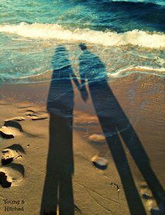 Evening walk on Hukilau Beach #beach #Hawaii #shadow #sweethearts