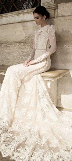 Wedding Dresses With Flowers, Wedding Dresses 2018, Designer Wedding Dresses, Dress Wedding, Long Sleeve Wedding, Glamour, Mod Wedding, Fall Wedding, Wedding Gallery