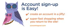 Creating an account helps you check out faster!
