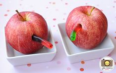Get Your Kids to Eat Healthy - Worm Apple