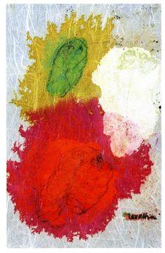1970.11.47 Cesare Zavattini, Autoritratto in bianco, rosso e verde