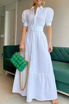 Dress Shirts For Women, Summer Dresses For Women, Clothes Women, Casual Dresses, Fashion Dresses, Long Dress Fashion, Women's A Line Dresses, Women's Dresses, Long Dresses