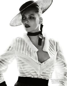 Kate Moss by Mario Testino in Vogue Spain Dec '12. Spanish flavour by Chanel