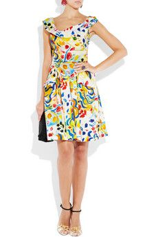 Vivienne Westwood Anglomania- Marghi printed cotton dress 270$