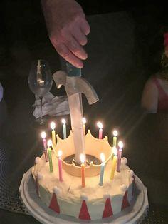 King Arthur cake King Arthur, How To Make Cake, Birthday Candles, Food Cakes