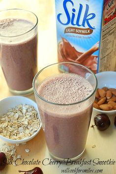 Chocolate Cherry Breakfast Silk Smoothie, #rethinkwhatyoudrink - Will Cook For Smiles