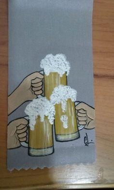 Fita de Finalista. ( Amigos dos Copos )Pintura de Célia Lopes