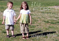 Flip Floppin' Toddler Wear shirts Tutorial #angelayosten