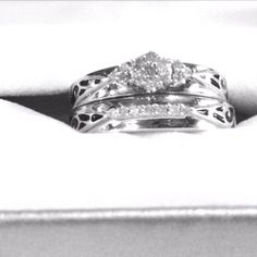 Girlfriends wedding rings!! Perfect!
