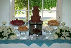 Chocolate Fountain Set Up Ideas 50 Anniversary, Party Hire, Chocolate Fountains, Dessert Table, Chocolate Fondue, Open House, Conference, Napkins, June
