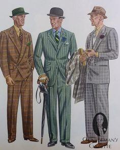 Och sen kom kriget och sen blev det aldrig bättre; Plaid & Chalk Stripe Spring Suits Apparel Arts 1936 — Gentleman's Gazette