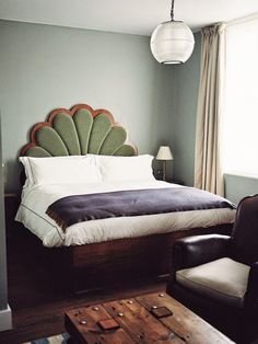 this headboard at Artist Residence Hotel in London. Photo by Vanessa Jackman.