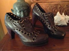 Calleen Cordero ARTE Brown Leather Heels size 8.5