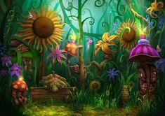 Such a creative use of colors sparked by a very vivid imagination!!
