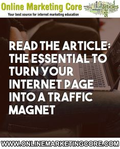The essential to turn your internet page into a traffic magnet Marketing Plan, Internet Marketing, Online Marketing, Digital Marketing, The Essential, Golden Rule, Free Website, Enough Is Enough, Magnets