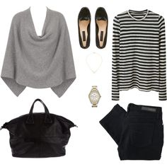 Minimal + Classic: simple stripe outfit