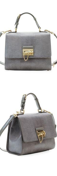 Dolce   Gabbana Monica Lizard Lock Satchel Bag, ( shown above in Light Gray) 8a07ad4294