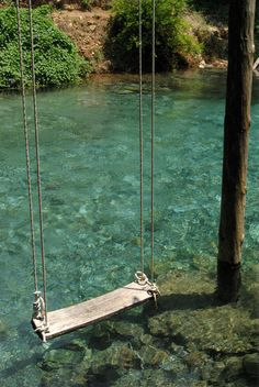 I want to do a swing like this, but it would need its own frame since we don't have a tree tall enough.