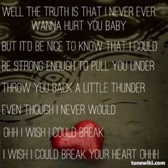 Cassadee Pope ~ I Wish I Could Break Your Heart