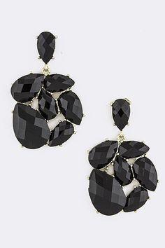 briolette jewel cluster earrings $11