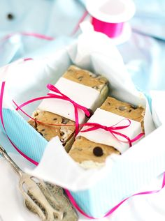 Cookie Dough Ice Cream Sandwiches in a Box as a gift