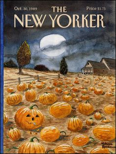 The New Yorker Halloween cover, October, 1989, shared by v.valenti, via Flickr. Art by Charles Addams.
