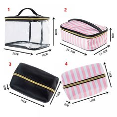 PVC Transparent Cosmetic Bag Travel Toiletry Bag Set Pink Make-up Organizer Makeup Pouch Case Vanity Travel Necessaire Beautician Cosmetic Bag Set, Travel Cosmetic Bags, Travel Bags, Bag Sewing Pattern, Leather Makeup Bag, Bag Organization, Toiletry Bag, Organizer, Bag Storage
